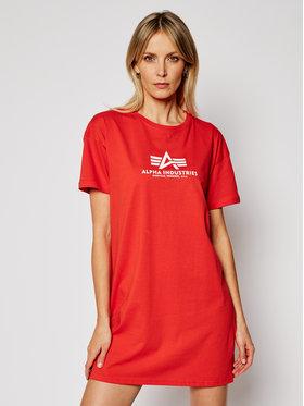 Alpha Industries Alpha Industries T-Shirt Basic T Long 116055 Rot Regular Fit