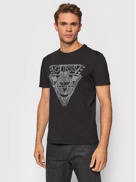 Guess Guess T-Shirt M1YI76 J1311 Czarny Regular Fit