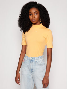 Calvin Klein Jeans Calvin Klein Jeans Tričko J20J216344 Oranžová Slim Fit