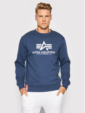 Alpha Industries Alpha Industries Majica dugih rukava Basic 178302 Tamnoplava Regular Fit