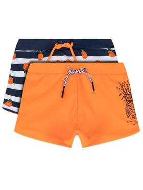 Mayoral Mayoral Sada 2 kusů plaveckých šortek 3627 Oranžová Slim Fit