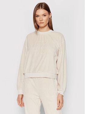 Calvin Klein Jeans Calvin Klein Jeans Bluza J20J216237 Beżowy Boyfriend Fit