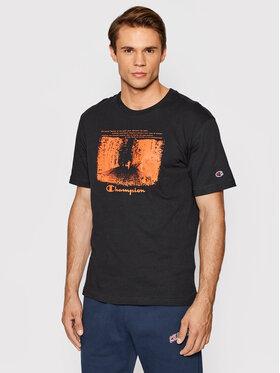 Champion Champion T-shirt Athletic Archive Graphic Print 216962 Noir Comfort Fit