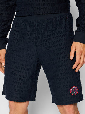 Tommy Hilfiger Tommy Hilfiger Szorty sportowe Logo Print UM0UM02164 Granatowy Regular Fit