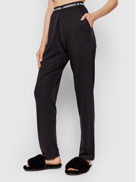 KARL LAGERFELD KARL LAGERFELD Pidžama hlače 215M2182 Crna