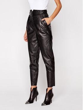 LaMarque LaMarque Kožené nohavice 6320 Čierna Regular Fit