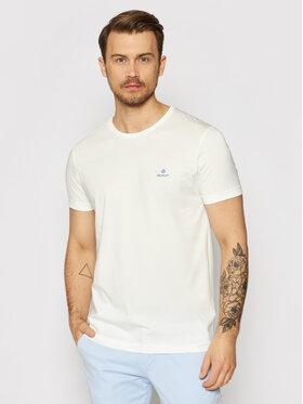 Gant Gant T-Shirt Contrast Logo 2053004 Biały Regular Fit