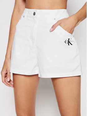 Calvin Klein Jeans Calvin Klein Jeans Шорти от плат J20J215562 Бял Regular Fit