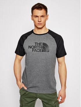 The North Face The North Face Marškinėliai Raglan Easy Tee NF0A37FVJBV1 Pilka Regular Fit