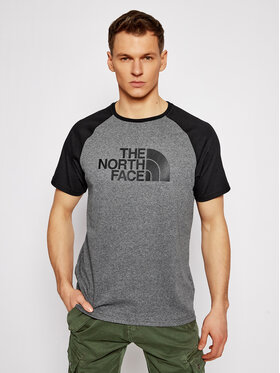 The North Face The North Face T-shirt Raglan Easy Tee NF0A37FVJBV1 Siva Regular Fit