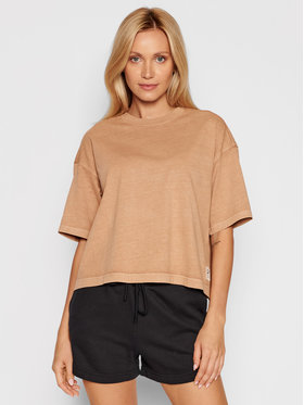 Reebok Reebok T-Shirt Natural Dye H11198 Brązowy Loose Fit