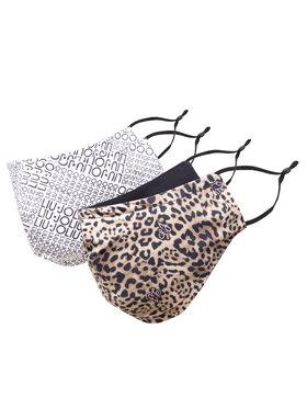 Liu Jo Liu Jo Set od 2 tekstilne maske Kit X2 Mascherine ZA1001 T0300 Smeđa