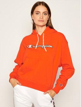 Champion Champion Mikina Vintage Script Logo 112638 Oranžová Custom Fit
