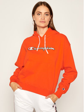 Champion Champion Sweatshirt Vintage Script Logo 112638 Orange Custom Fit