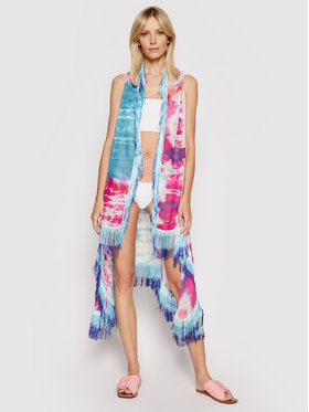 Desigual Desigual Pareo Tie Dye 21SAWA21 Kolorowy Relaxed Fit