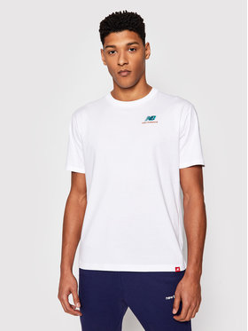 New Balance New Balance Marškinėliai Essentials Embroidered Tee MT11592 Balta Relaxed Fit