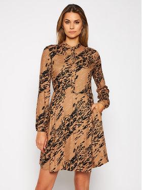 Calvin Klein Calvin Klein Sukienka koszulowa Viscose Twill Button K20K202417 Brązowy Regular Fit