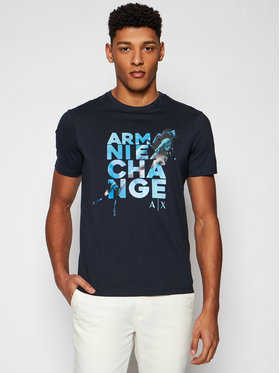 Armani Exchange Armani Exchange Marškinėliai 3KZTGZ ZJBVZ 1510 Tamsiai mėlyna Regular Fit