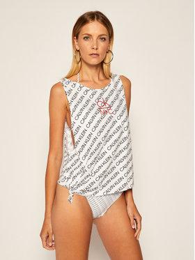 Calvin Klein Swimwear Calvin Klein Swimwear Топ Side Knotted KW0KW01018 Бял Regular Fit