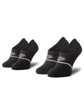NIKE NIKE Lot de 2 paires de socquettes unisexe CU0692 010 Noir