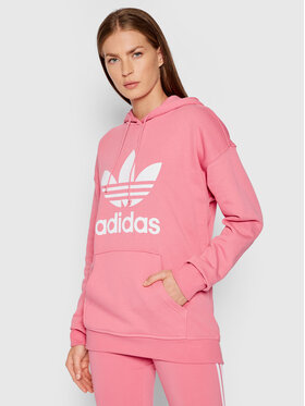 adidas adidas Bluza adicolor Trefoil H33587 Różowy Regular Fit