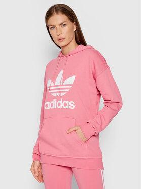 adidas adidas Суитшърт adicolor Trefoil H33587 Розов Regular Fit