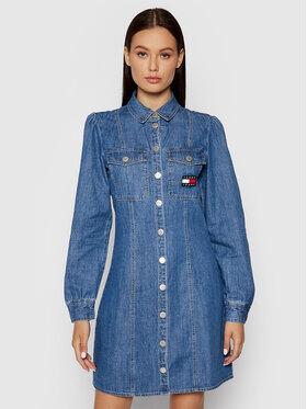 Tommy Jeans Tommy Jeans Rochie de blugi Chambray DW0DW09361 Albastru Regular Fit