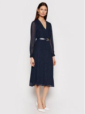 MICHAEL Michael Kors MICHAEL Michael Kors Marškinių tipo suknelė Polka Dot Crepe Georgette MS18Y461BU Tamsiai mėlyna Regular Fit