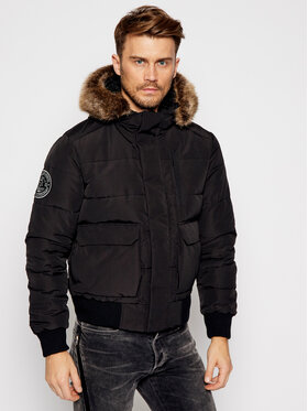 Superdry Superdry Kurtka zimowa Everest Quilted M5010405A Czarny Regular Fit