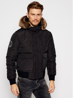 Superdry Superdry Зимно яке Everest Quilted M5010405A Черен Regular Fit