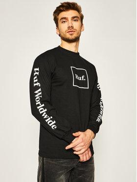 HUF HUF Тениска с дълъг ръкав Essentials Domestic TS00146 Черен Regular Fit