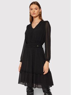 Rinascimento Rinascimento Koktejlové šaty CFC0104675003 Čierna Regular Fit