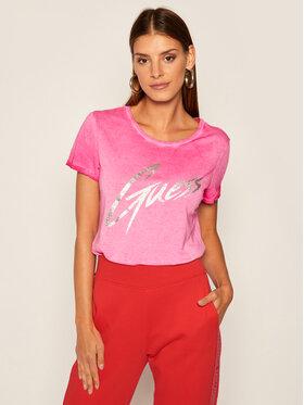 Guess Guess Póló Ivonne W0YI24 K46D1 Rózsaszín Regular Fit