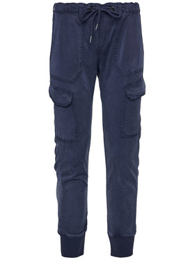 Pepe Jeans Pepe Jeans Medžiaginės kelnės Crusade PL211262 Mėlyna Relaxed Fit