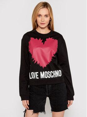 LOVE MOSCHINO LOVE MOSCHINO Majica dugih rukava W630643M 4282 Crna Regular Fit
