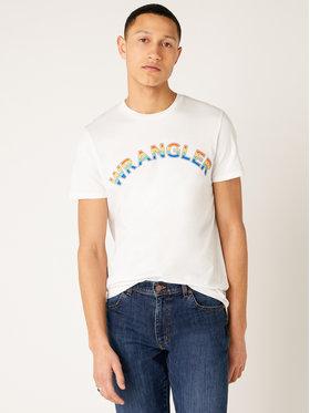 Wrangler Wrangler Póló Rainbow W7F2D3989 Fehér Regular Fit