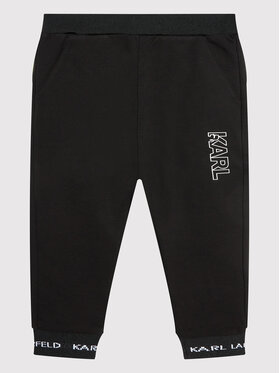KARL LAGERFELD KARL LAGERFELD Παντελόνι φόρμας Z24122 S Μαύρο Regular Fit