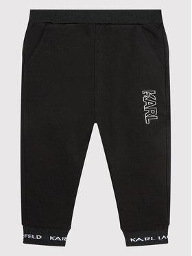 KARL LAGERFELD KARL LAGERFELD Teplákové nohavice Z24122 S Čierna Regular Fit