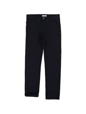 Boss Boss Pantaloni di tessuto J24606 Blu scuro Slim Fit