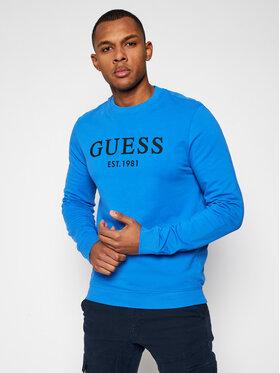 Guess Guess Bluza M1RQ08 K7ON1 Niebieski Slim Fit