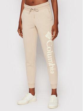 Columbia Columbia Spodnie dresowe Logo Fleece 1940094 Beżowy Regular Fit