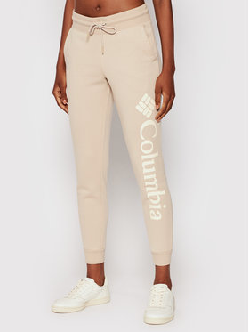 Columbia Columbia Teplákové kalhoty Logo Fleece 1940094 Béžová Regular Fit