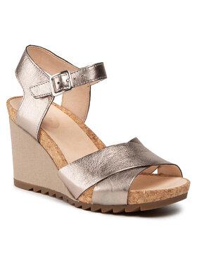 Clarks Clarks Sandále Flex Sun 261504324 Zlatá