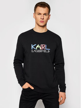 KARL LAGERFELD KARL LAGERFELD Bluza Crewneck 705062 511940 Czarny Regular Fit