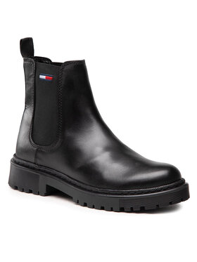 Tommy Jeans Tommy Jeans Štibletai Branded Tape Chelsea Boot EN0EN01577 Juoda