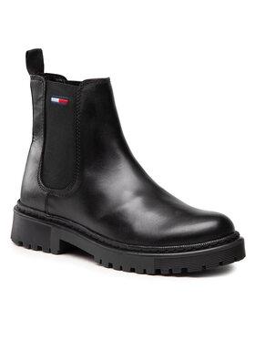 Tommy Jeans Tommy Jeans Sztyblety Branded Tape Chelsea Boot EN0EN01577 Czarny