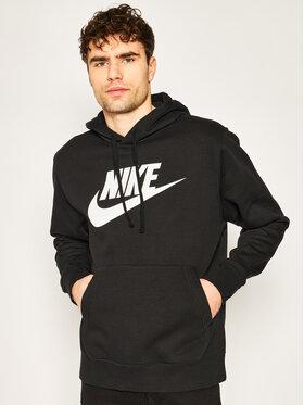 Nike Nike Majica dugih rukava Club Hoodie BV2973 Crna Standard Fit
