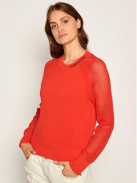 Calvin Klein Jeans Calvin Klein Jeans Megztinis Mesh Sleeve J20J213512 Raudona Regular Fit