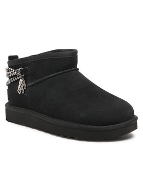 Ugg Ugg Batai W Classic Ultra Mini Chains 1117933 Juoda