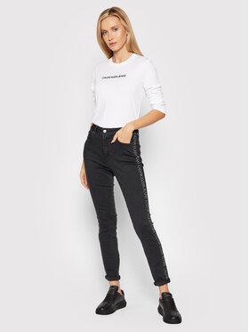 Calvin Klein Jeans Calvin Klein Jeans Bluzka J20J217284 Biały Regular Fit